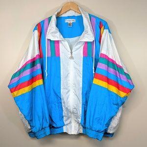 Vintage 80's Rainbow Windbreaker